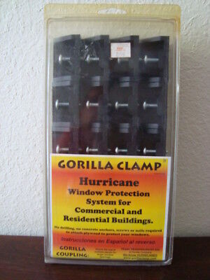 20 Gorilla Clamps Hurricane Window Protection System for use on 1/2 Plywood New