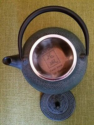 KAFUH Japanese Tetsubin Green Nubby Cast Iron Teapot Single Serve NEVER USED