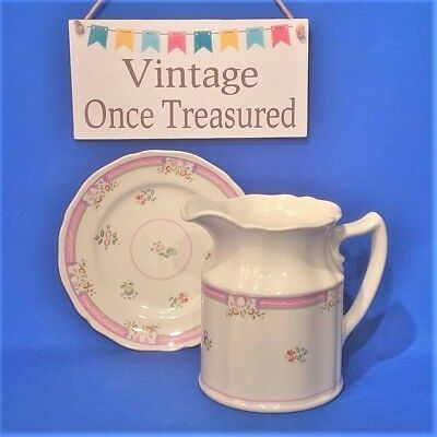 "Laura Ashley Alice Fenton Jug Pitcher (6"") + Side Plate (6⅞"") Vintage VGC"