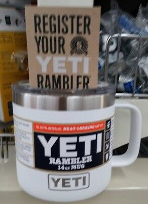 YETI 14 oz Rambler Mug - WHITE   - New with Papers
