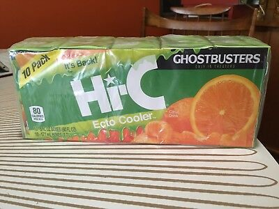 10 Pack Hi-C Ecto Cooler Reissue Limited Release Juice Boxes GHOSTBUSTERS Slimer