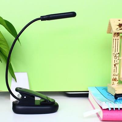 Flexible Neck 10 LED Clip-on Light BOOK Reading Lamp Torch Bedside Desk Clamp