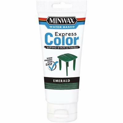 Minwax Express Color Low Lustre Water Based Wiping Stain / Finish Emerald 6 OZ
