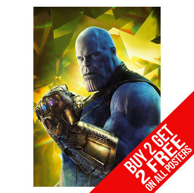 Avengers Infinity War Thanos Poster Ee8  Print A4 / A3  - Buy 2 Get Any 2 Free