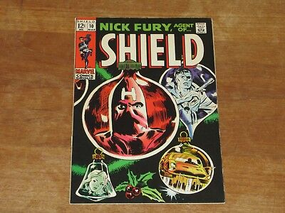 Nick Fury Agent Of Shield #10 Silver Age Higher Grade Beautiful Book Hatemonger