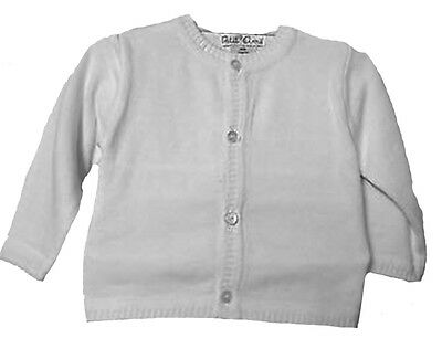 White Cardigan Unisex Sweater Boys and Girls Size 4, 5, 6 & 6X NWT Petit Ami