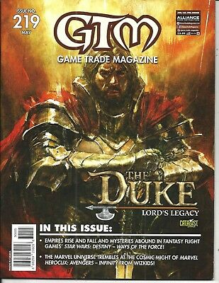 Game Trade Magazine # 219 (Presents THE DUKE: LORD'S LEGACY, MAY 2018) NM NEW