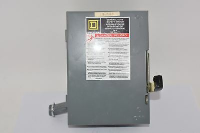 NEW Square D 30 Amp 240VAC Single Throw Safety Switch 3P, D321N
