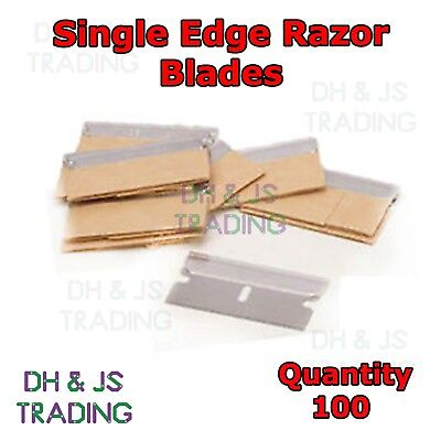 100 x Single Edge Razor Blades - Window Scraper Blade Oven Cleaning Craft Art