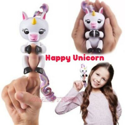 Happy Unicorn Baby Fingerlings Xmas Birthday Kids Toy Touch Motion & Sounds