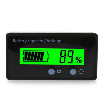 GY-6S LCD Acid Lead Lithium-ion Battery Capacity Monitor Digital Voltmeter Black