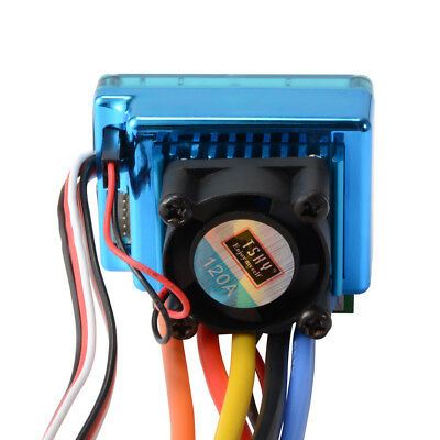 120A ESC Sensored Brushless Speed Controller for RC 1/8 1/10 Car Crawler RC646