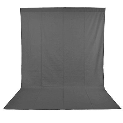3x6M 10x20ft Photo Studio 100% Pure Muslin Collapsible Backdrop Background GREY