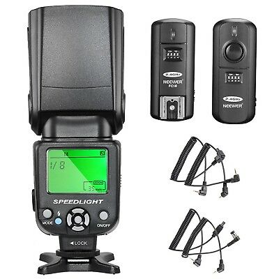 NW-561 LCD Screen Flash Speedlite Kit for Canon Nikon and Other DSLR Cameras