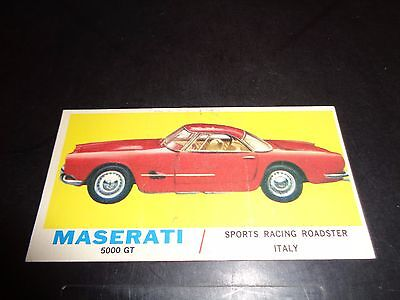 1961 TOPPS Sports Cars #7 MASERATI VG état vintage cartes à collectionner