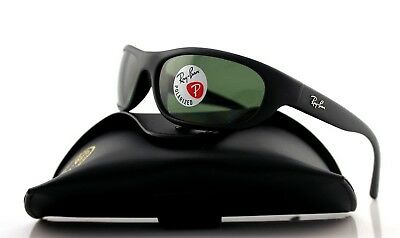 POLARIZED Genuine RAY-BAN Predator Matte Black Wrap Sunglasses RB 4033 601-S/48