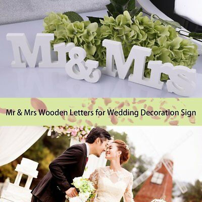 Chic Mr Mrs Wedding Letters White Wooden And Table Sign Decoration Gl