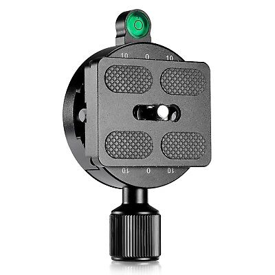 55mm Universal Screw Knob Clamp with 50mm Quick Release Plate for Tripod Head