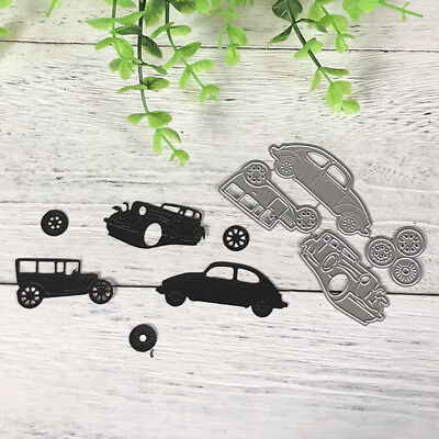 4pcs Classic Cars Metal Cutting Dies For DIY Scrapbooking Album Paper AU.