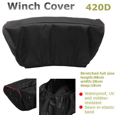 420D Winch Dust Cover Soft Waterproof For 5,000LB-13,000LB Auto Trailer SUV ATV