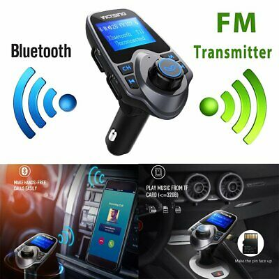 VicTsing Bluetooth FM Transmitter 2-USB Ports Wireless Car Kit Radio MP3 Adapter