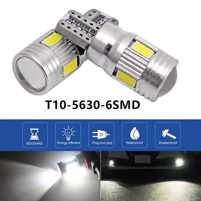T10 High Power White LED Daytime Fog Lights Bulb License Plate Light 6000K Bulb