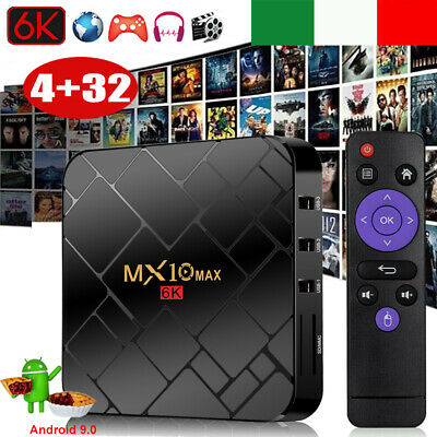 2019 4+32G Android 9.0 Pie RK3328 Quad Core Smart TV BOX 4K Movies Media Player