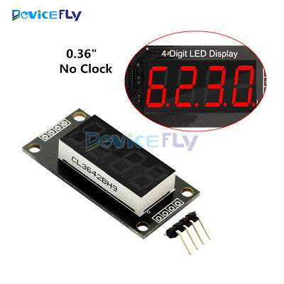 "TM1637 0.36"" 4-Bit 7-Segment Digital Tube LED Red Display Module For Arduino"