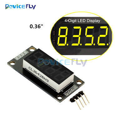 "0.36"" TM1637 7-Segment 4-Bit Digital Tube LED Yellow Display Module For Arduino"