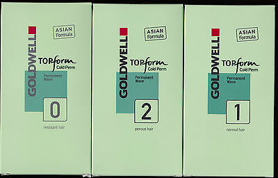 @@ GOLDWELL TOPFORM COLD PERM Permanent Wave 0 / 1 / 2 ASIA Formula