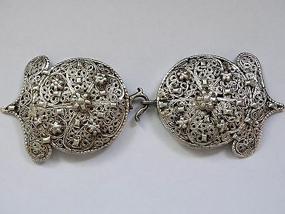 ANTIQUE OTTOMAN SILVER BUCKLE FOR BELT JEWEL ISLAMIC TUGRA VERY RARE 97 grams !