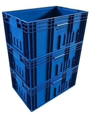 52 Ltr Heavy Duty Euro Plastic Stacking Industrial KLT Storage Containers Boxes