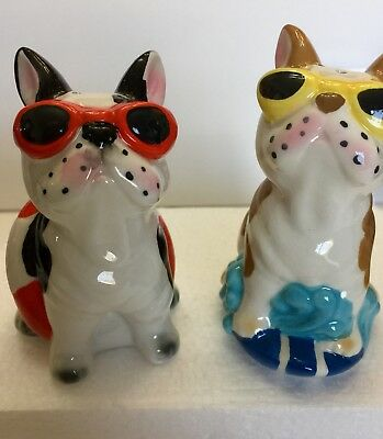 Frenc Bulldogs In Bathing Suits Salt And Pepper