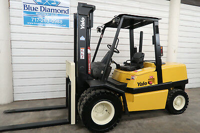 Yale GDP100, 10,000# DIESEL Pneumatic Tire Forklift, 2 Stage, Only 3,532 Hours!!