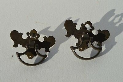 2 Nice Antique Brass Furniture/cabinet Hardware Drawer Pulls