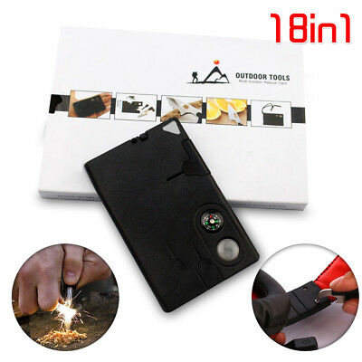 18 in 1 Multi Tool Card Pocket Portable Outdoor Camping Survival Kit Combination