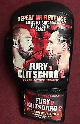 Exclusive Tyson Fury V Wladimir Klitschko Fight Promo Signed Boxing Glove