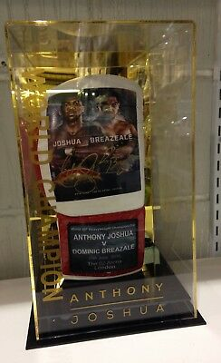Anthony Joshua and Dominic Breazeale Signed Official Fight Promo Boxing Glove