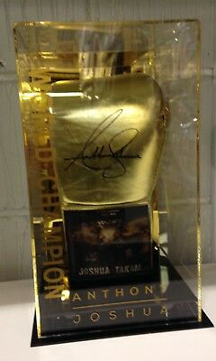 Anthony Joshua Signed Official Fight Promo Boxing Glove v Takam AFTAL COA
