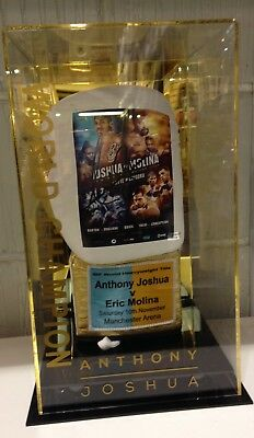 Anthony Joshua Signed Official Fight Promo Boxing Glove v Eric Molina AFTAL COA
