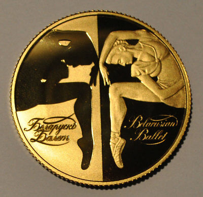 2007 Belarus 200 Roubles Ballet 1oz Gold Proof Coin