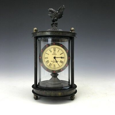 Collection of Antiques  mechanical clock set eagle three-dimensional sculpture