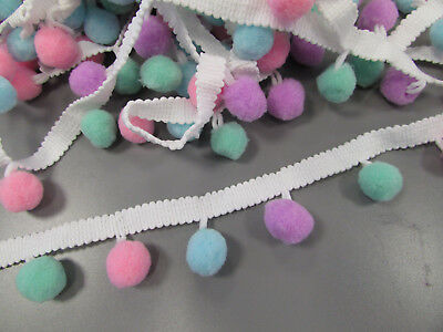 Shocking Pink Pom Pom Braid//Trim X 1 Metre   Sewing//Costume//Crafts//Corsetry