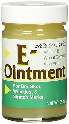 Basic Organics Natural Vitamin E Ointment For Skin - 2 Fluid Ounce (Pack Of 3)