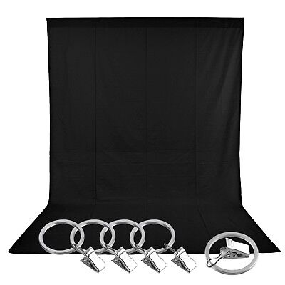 Photo Studio 5 x 10 ft/1.5 x 3M Pure Muslin Collapsible Backdrop Background