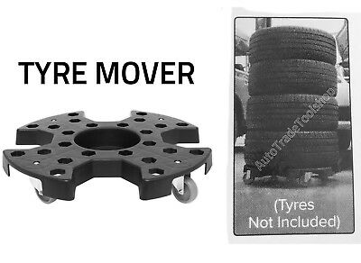 TYRE STORAGE / TRANSPORT DOLLY TROLLEY on CASTORS SEALEY STR006 Garage use