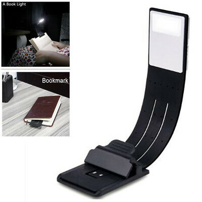 USB Rechargeable LED Book Light Flexible Clip On Night Reading Lamp Hot USA Ship