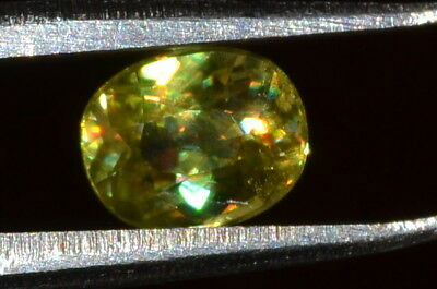 Gorgeous 1ct. Natural Red Speckled VS Oval Golden Sphene
