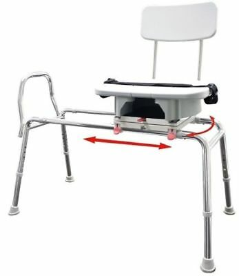 Eagle Snap-n-Save Sliding Shower Chair -Transfer Bench Cut Out WAREHOUSE DEAL!!!