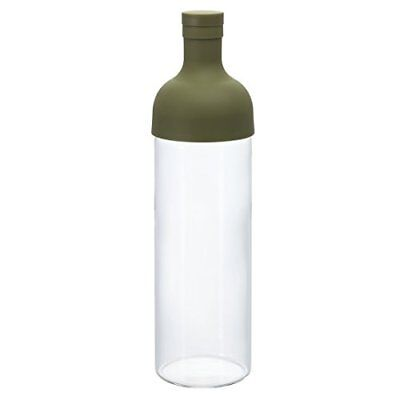 Hario Cold Brew Tea Filter in Bottle (750ml, Olive Green) Free Shipping